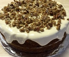 Candied Maple Pecan Carrot Cake